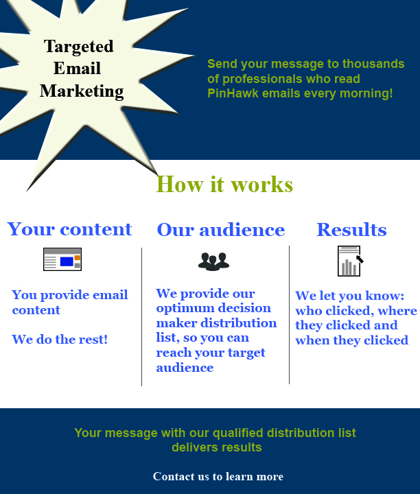 Email Blasts Click to contact us and learn more.